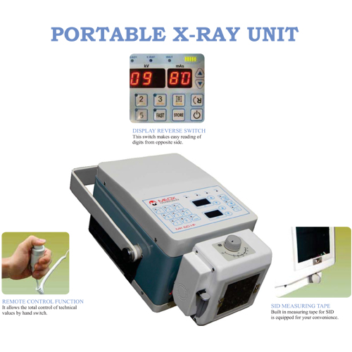 Portable X-ray machine model Portx MX 60 HF with Flat touch panel digital display