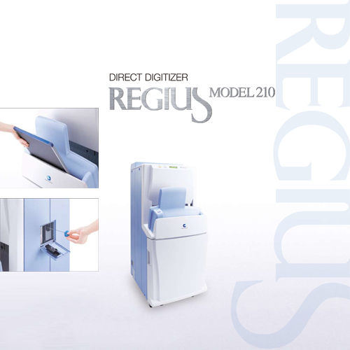 Digital X-ray CR system REGIUS MODEL 210 with Compact, High-performance design