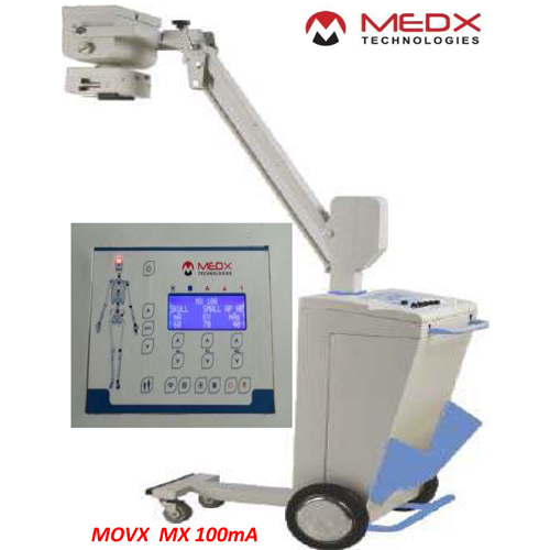 New X-ray machine model MOVX MX 100mA is Tube swivels for lateral exposures