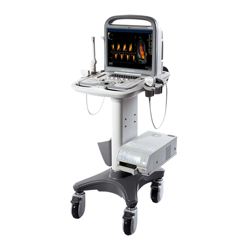 Ultrasound machine, model AeroScan CD10, with 15-inch high-resolution monitor